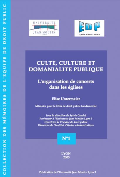 Culte, culture et domanialité publique