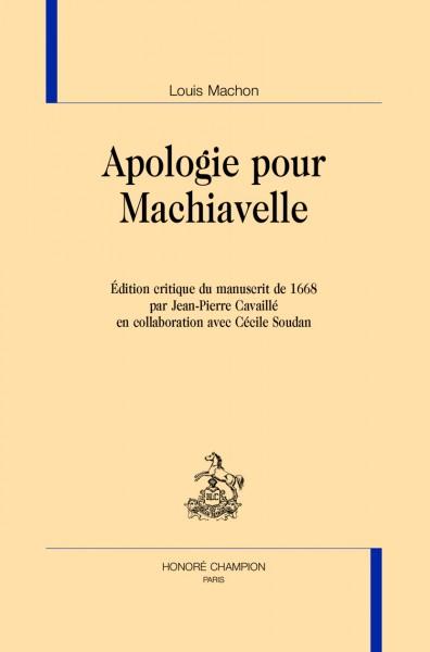 Apologie pour Machiavelle
