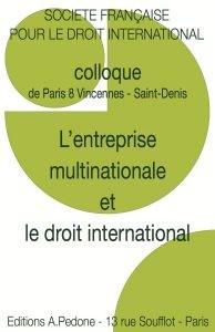 L'entreprise multinationale et le droit international