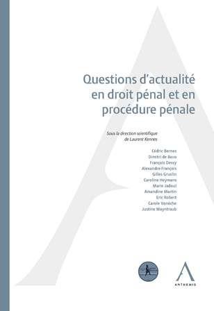Questions d'actualité en droit pénal et en procédure pénale