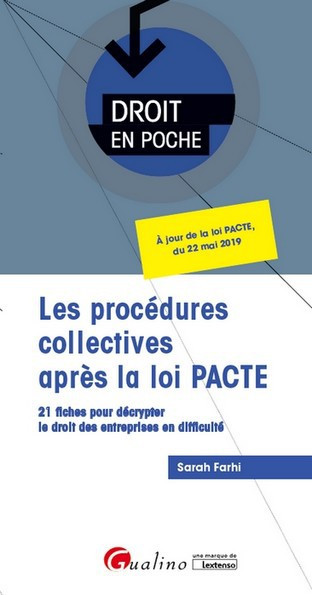 les-procedures-collectives-apres-la-loi-pacte-9782297076531