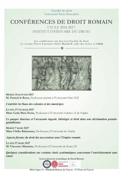 Conférences de Droit romain