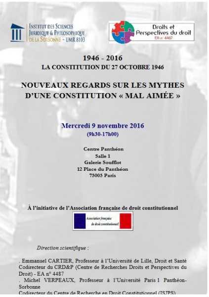1946-2016. La Constitution du 27 octobre 1946