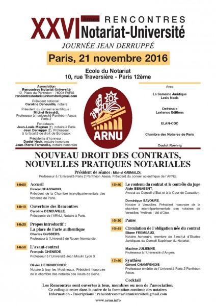 Rencontres notariales 2016