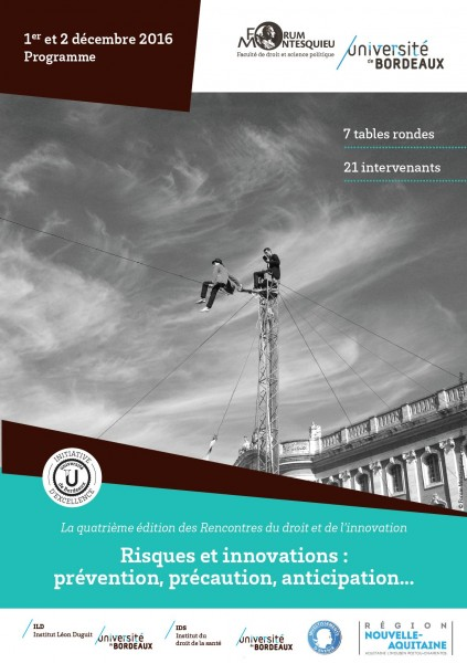 Risques et innovations : prévention, précaution, anticipation...