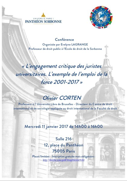 L'engagement critique des juristes universitaires. L'exemple de l'emploi de la force 2001-2017