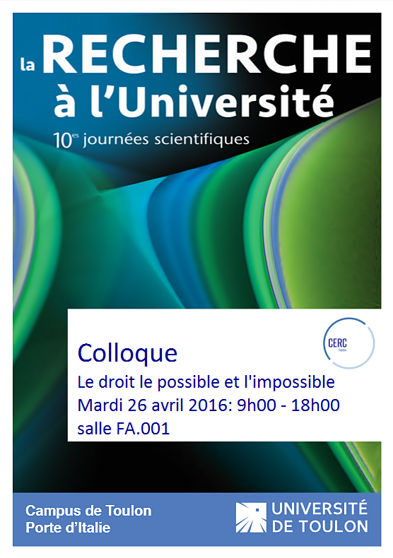 Le droit, le possible et l'impossible