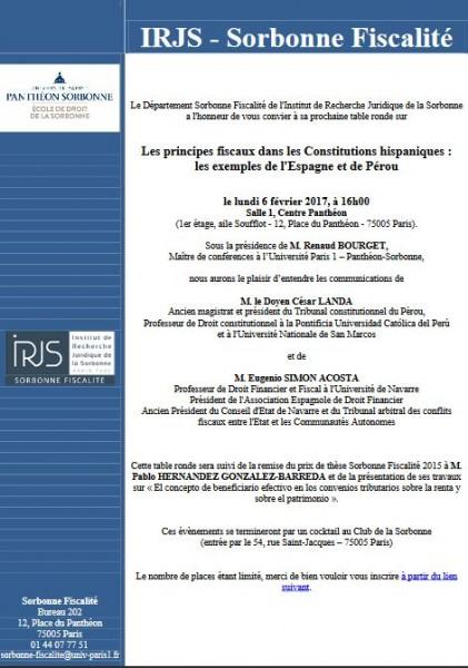 Les principes fiscaux dans les Constitutions hispaniques : les exemples de l'Espagne et du Pérou
