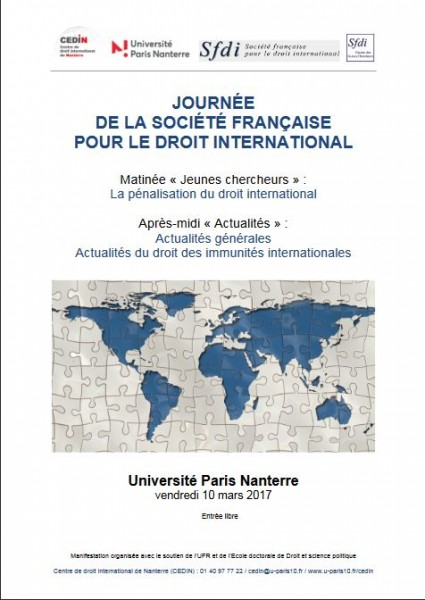 La pénalisation du droit international