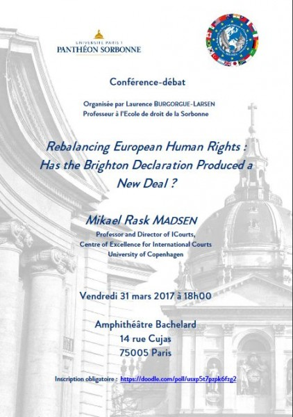 Rebalancing European Human Rights : has the Brighton Declaration produced a New Deal ?