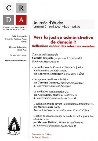 """Résultat de recherche d'images pour """"vers la justice administrative de demain"""""""