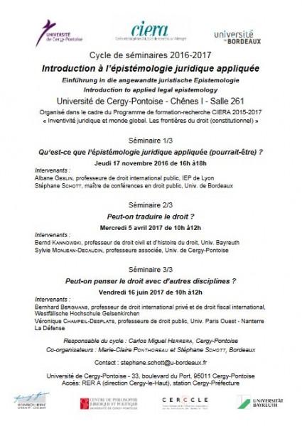 Introduction à Lépistémologie Juridique Appliquée Peut On