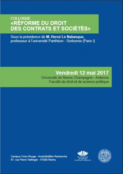 Réforme du droit des contrats et sociétés