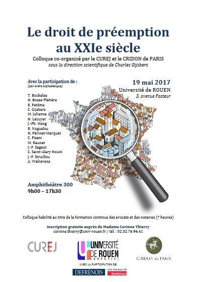 Charles gijsbers portail universitaire du droit - Le droit de preemption ...