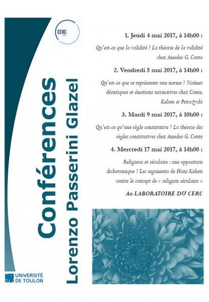 Conférences de Lorenzo Passerini Glazel