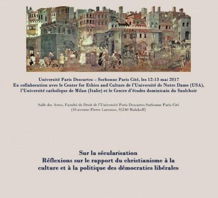 Sur la sécularisation. Réflexions sur le rapport du christianisme à la culture et à la politique des démocraties libérales