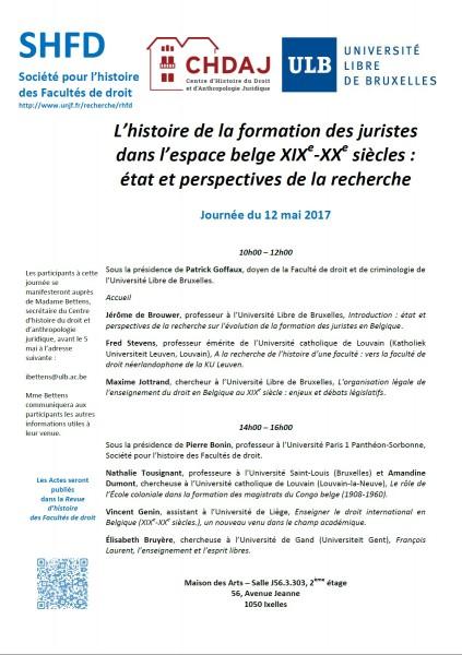 L'histoire de la formation des juristes dans l'espace belge XIXe-XXe siècles