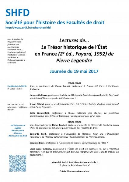 Lectures de… Le Trésor historique de l'État en France, de Pierre Legendre