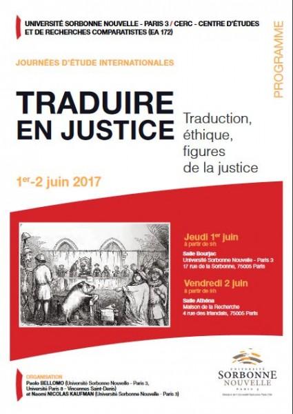 Traduire en justice. Traduction, éthique et figures de la justice