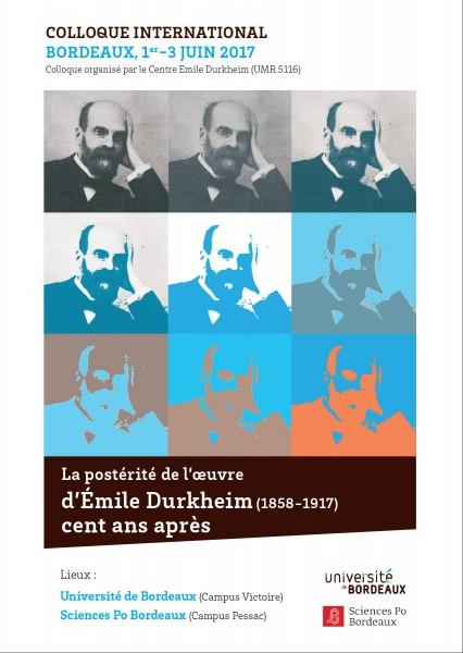 La postérité de l'œuvre d'Émile Durkheim cent ans après