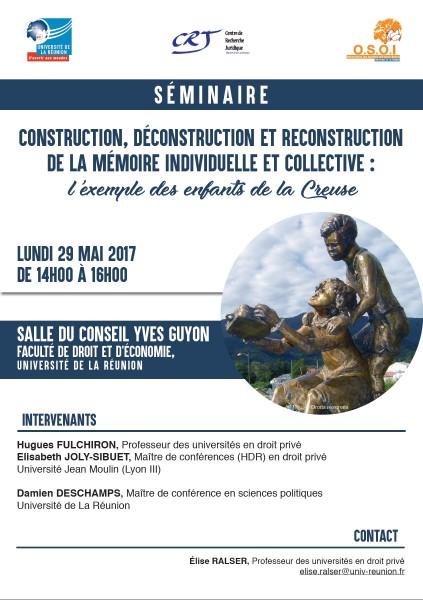 Construction, déconstruction et reconstruction de la mémoire individuelle et collective : l'exemple des enfants de la Creuse