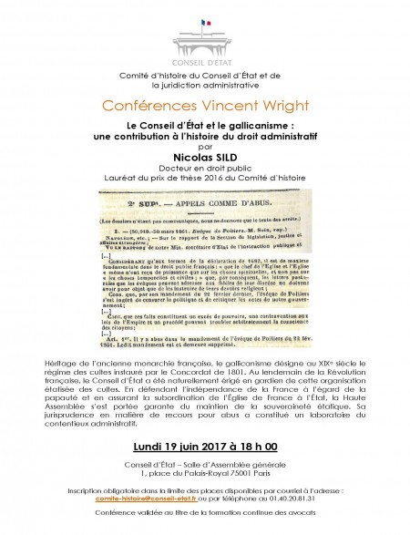 Le Conseil d'État et le gallicanisme : une contribution à l'histoire du droit administratif