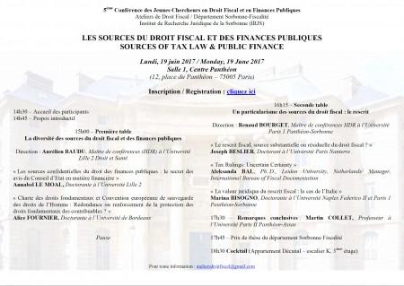 Les sources du droit fiscal et des finances publiques