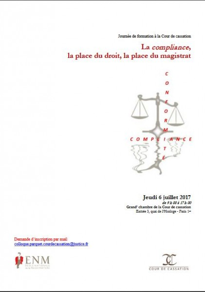 La compliance, la place du droit, la place du magistrat