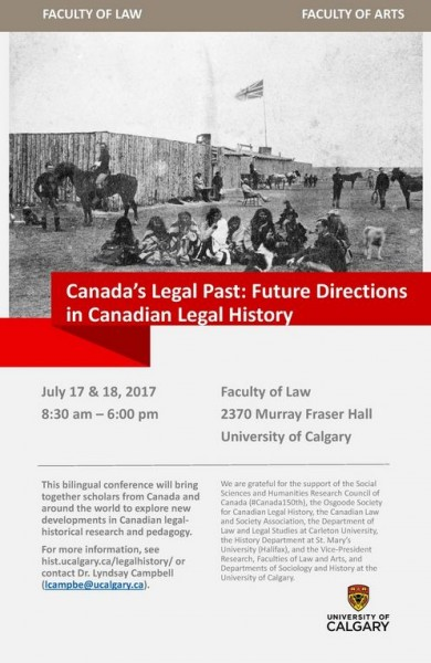 Canada's Legal Past : Future Directions In Canadian Legal History