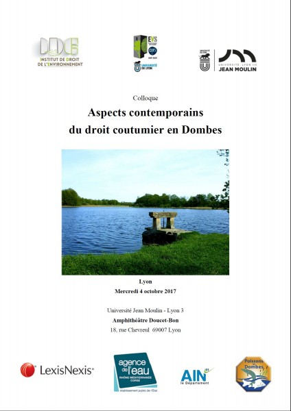 Aspects contemporains du droit coutumier en Dombes