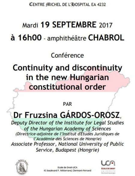 Continuity and discontinuity in the new Hungarian constitutional order