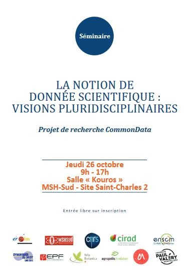 La notion de donnée scientifique : visions pluridisciplinaires