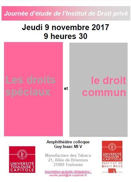 Les Droits Speciaux Et Le Droit Commun Portail Universitaire Du Droit