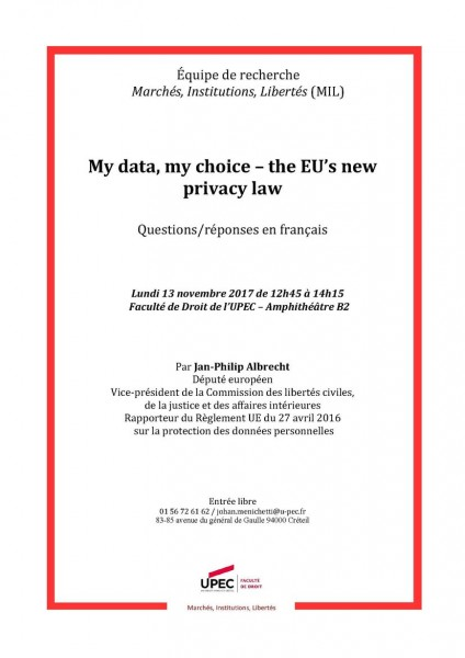 My data, my choice. The EU's new privacy law
