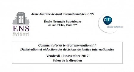 Comment s'écrit le droit international ?