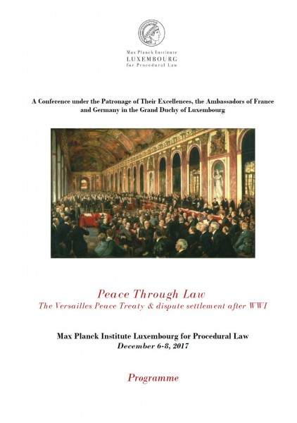 Peace Through Law : The Versailles Peace Treaty and dispute settlement after WWI