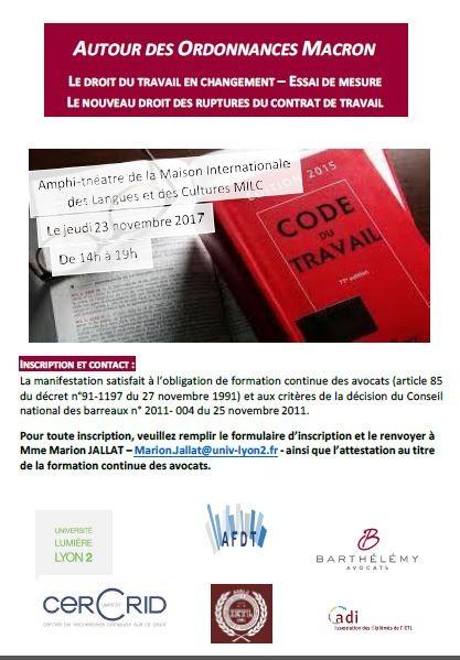 eae16a294fe Autour des ordonnances Macron   Le droit du travail en changement ...