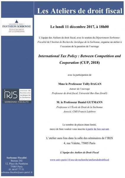 International Tax Policy (CUP, 2018)