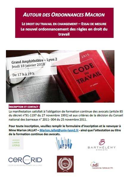 0e0e769ae8a Autour des ordonnances Macron   Le nouvel ordonnancement des règles en droit  du travail