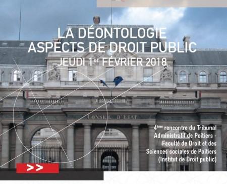 a7b399dba65 La déontologie. Aspects de droit public - Portail Universitaire du droit