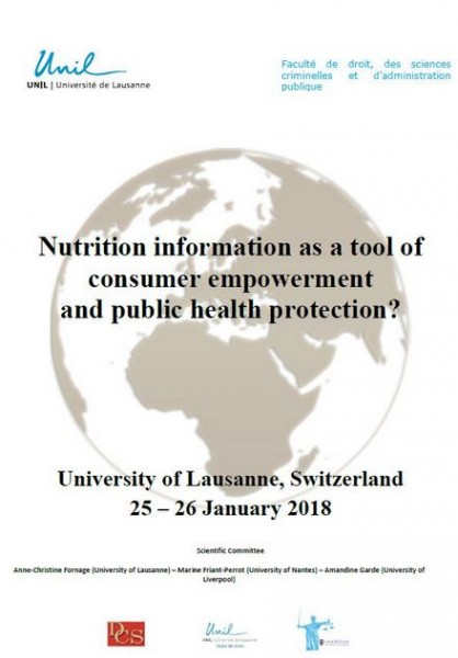 Nutrition information as a tool of consumer empowerment and public health protection ?