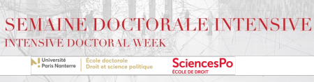 Semaine doctorale intensive