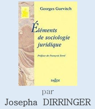 Le droit selon Georges Gurvitch