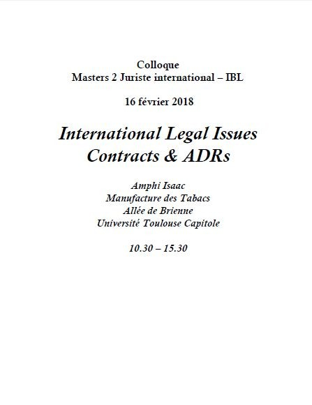 Legal issues contracts & adrs