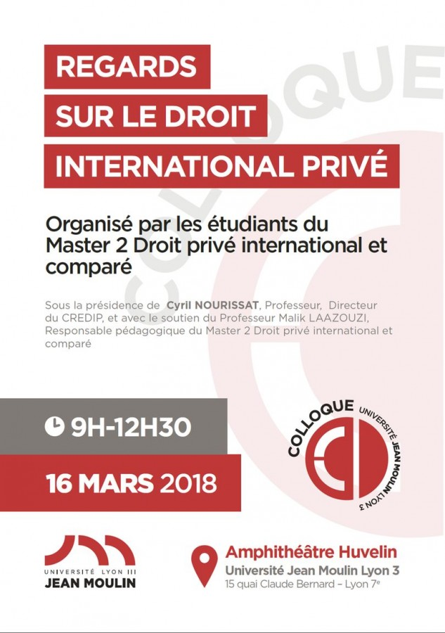Regards sur le droit international privé