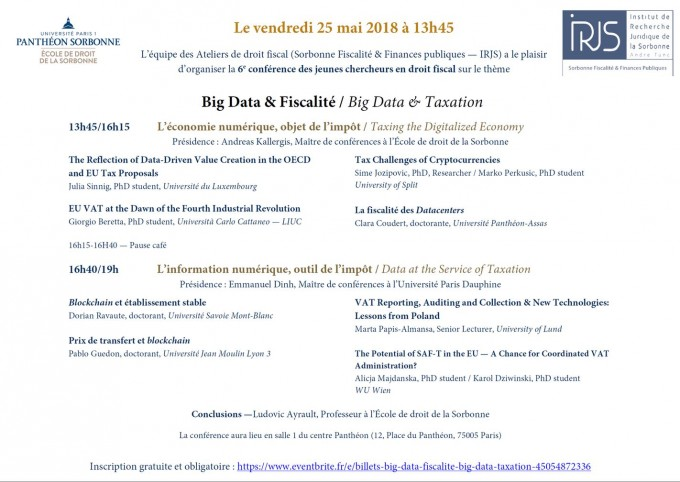 Big Data & Fiscalité / Big Data & Taxation - Portail
