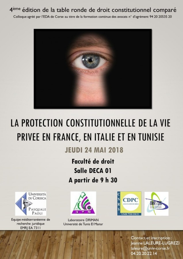 La protection constitutionnelle de la vie privée en France, en Italie et en Tunisie