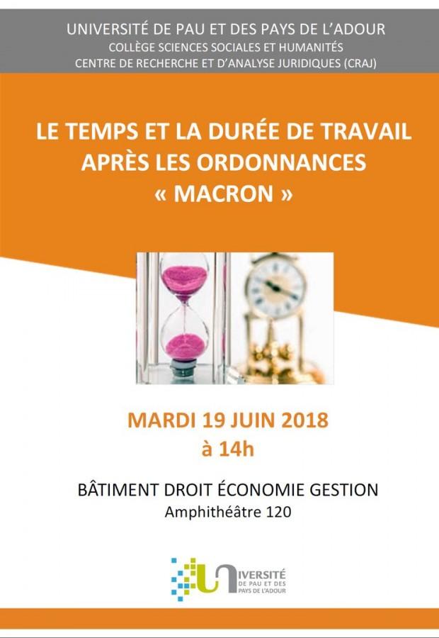 83d522c6adf Le temps et la durée de travail après les ordonnances « Macron » - Portail  Universitaire du droit