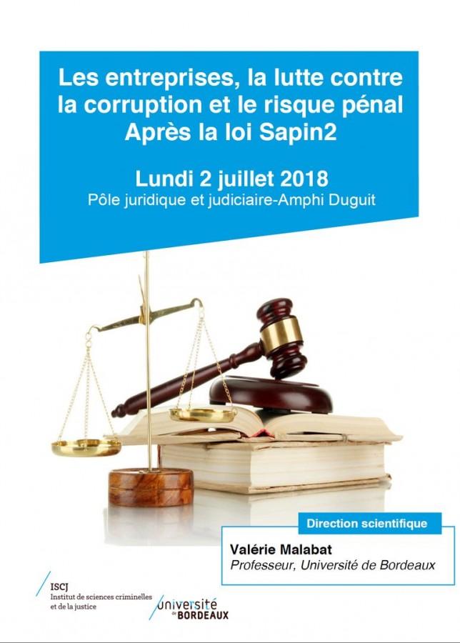 Les entreprises, la lutte contre la corruption et le risque pénal après la loi Sapin2