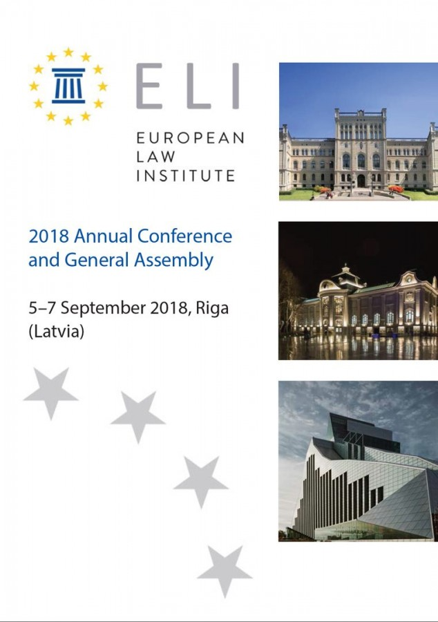 European Law Institute 2018 Annual Conference